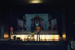 Behind the scenes - bump in and rehearsal